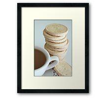 Cookies with Grandma Framed Print