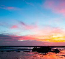 Sunset Handry's Beach by Henrik Lehnerer