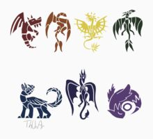 7 Chakra Dragons by Thunar