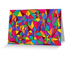 Starry Stained Glass Greeting Card