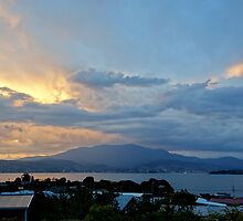 Fiery sky over Hobart - Tasmania, Australia by PC1134
