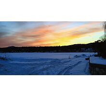 Sunset Down by the BoatHouse Theater Photographic Print