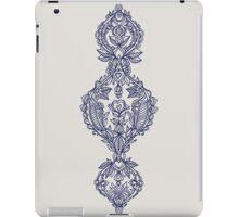 Navy Doodle on Grey iPad Case/Skin