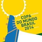 MY 2014 WORLD CUP SOCCER BRAZIL - RIO MINIMAL POSTER by Chungkong