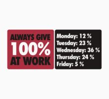 Always give 100 % at work by nektarinchen