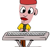 Cartoon Keyboard Player by kwg2200