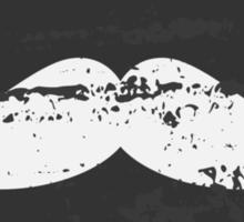 Chalkboard Mustache Pattern Sticker