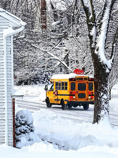 On the Way to School in Winter by Susan Savad
