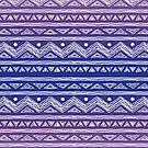 Purple Ombre Abstract Tribal Pattern by Iveta Angelova