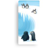 Penguin Playground Metal Print