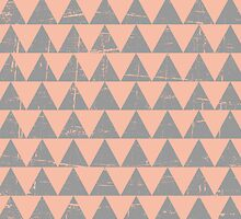 Gray and Salmon Triangles Pattern by Ivaleksa