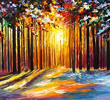 SUN OF JANUARY by Leonid  Afremov