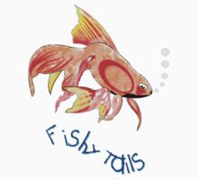 Lots of Fishy Tails T-shirt by Dennis Melling
