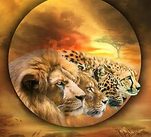 Spirits Of The Savannah by Carol  Cavalaris