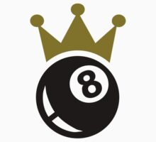 Eight ball billiards crown by Designzz