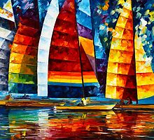 SEA REGATTA by Leonid  Afremov
