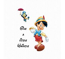 Disney Pinocchio Give A Little Whistle by N1K0VE