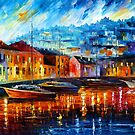BLUE HARBOR by Leonid  Afremov