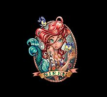 Disney Little Mermaid Ariel Tattoo by N1K0VE