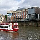 A river boat on the River Ouse at York by John (Mike)  Dobson