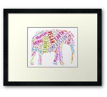 Vegan Elephant Framed Print