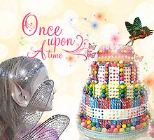 Once Upon a Time Fairy with Candy Land Cake by fairytaleart