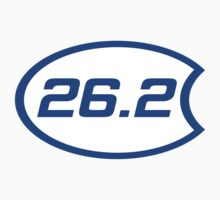 26.2 Oval Overlap Sticker by dcroffe