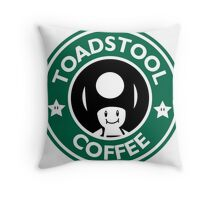 Toadstool Coffee - Traditional  Throw Pillow