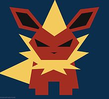 136 Flareon by Gefemon2