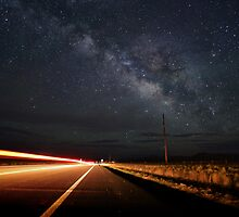 Milky Way and a Speeding Car by B Spencer