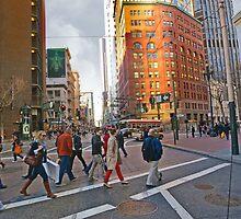 Market Street Evening Rush Hour by David Denny