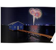 Crawley Edge Boatshed Fireworks Poster