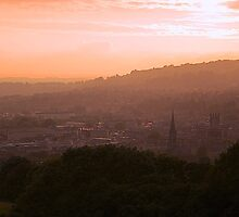 Sunset from Widcombe Bill, Bath by gordonmackay