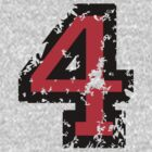 Number Four - No. 4 (two-color) red by theshirtshops