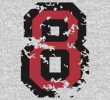 Number Eight - No. 8 (two-color) red by theshirtshops