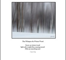 Haiku Poster - The Whisper of a Winter Wood by Wayne King
