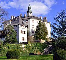 Castle Ambras in Innsbruck by Elzbieta Fazel