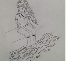 Girl Sitting By the Water Case by designedbyme