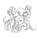 Octopus drawing by nadil
