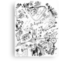 Wendoodle, there's a bike in there Canvas Print