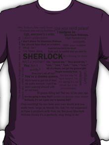 Sherlock Season 3 Quotes T-Shirt