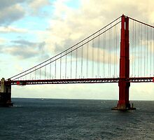 GOLDEN GATE BRIDGE FROM SHIP by JAYMILO