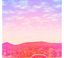 Old Car in the Sunset by ilikefood