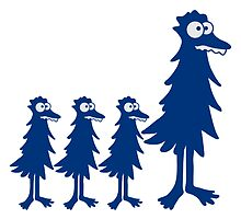 Funny little funny bird family children Mama Papa by Style-O-Mat