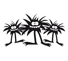 3 hairy Monster team crew's friends by Style-O-Mat