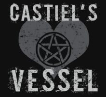 Supernatural Castiel's Vessel T-Shirt by thepixelgarden