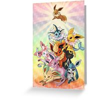 Eeveelution Pileup Greeting Card