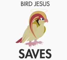 Twitch Plays Pokemon: Bird Jesus Saves - Sticker by Twitch Plays Pokemon