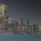 Surreal Future Steampunk Haven City by Stirpel