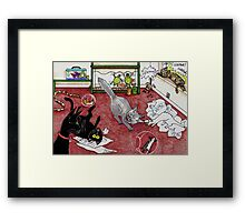 Too Many Pets Framed Print